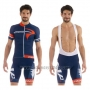 2015 Cycling Jersey Pinarello Red and Blue Short Sleeve and Bib Short