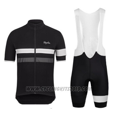 2015 Cycling Jersey Rapha Black and White Short Sleeve and Bib Short