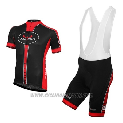 2016 Cycling Jersey Bobteam Black Short Sleeve and Bib Short