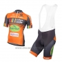 2016 Cycling Jersey Color Code Orange Short Sleeve and Bib Short