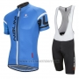 2016 Cycling Jersey Nalini Blue Short Sleeve and Salopette