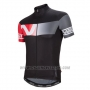 2016 Cycling Jersey Nalini Red and Gray Short Sleeve and Salopette
