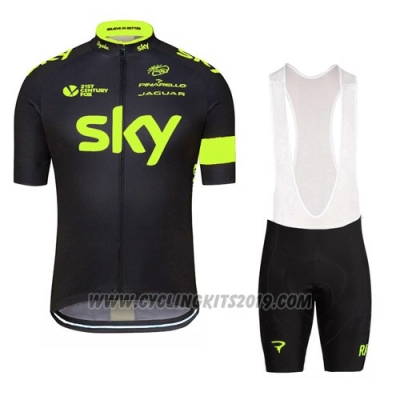 2016 Cycling Jersey Sky Green and Black Short Sleeve and Bib Short