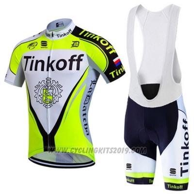 2016 Cycling Jersey Tinkoff Green and Black Short Sleeve and Bib Short