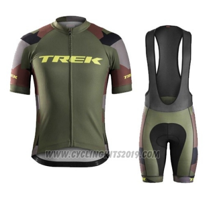 2016 Cycling Jersey Trek Bontrager Vede Militare Short Sleeve and Bib Short