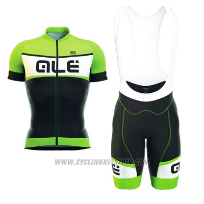 2017 Cycling Jersey ALE Formula 1.0 Sprinter Green and Black Short Sleeve and Bib Short