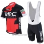 2017 Cycling Jersey BMC Red and Black Short Sleeve and Bib Short