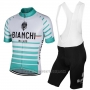 2017 Cycling Jersey Bianchi Milano Albatros White Short Sleeve and Bib Short
