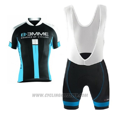 2017 Cycling Jersey Biemme Identity Black and Blue Short Sleeve and Bib Short