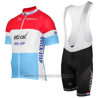 2017 Cycling Jersey Etixx Quick Step Campione Luxembourg Short Sleeve and Bib Short