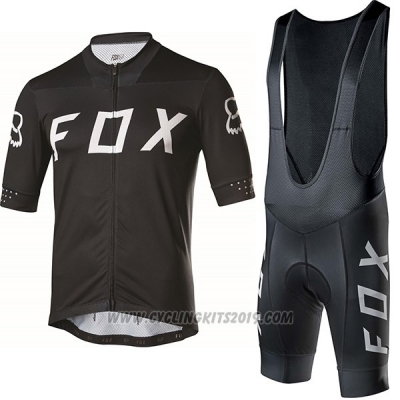2017 Cycling Jersey Fox Ascent Comp Black Short Sleeve and Bib Short