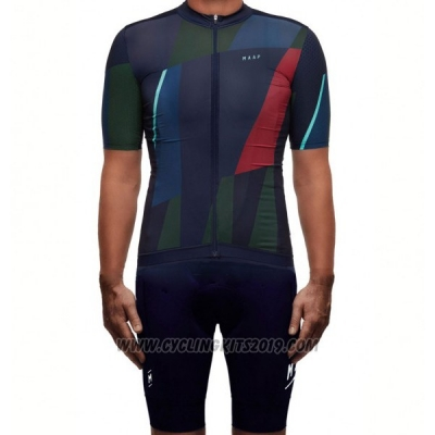 2017 Cycling Jersey Maap Deep Blue Short Sleeve and Bib Short