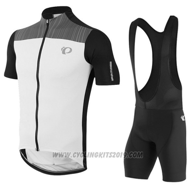 2017 Cycling Jersey Pearl Izumi White and Black Short Sleeve and Bib Short