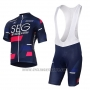 2017 Cycling Jersey SEG Racing Academy Blue and Red Short Sleeve and Bib Short