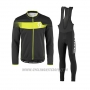 2017 Cycling Jersey Scott Yellow and Black Long Sleeve and Salopette
