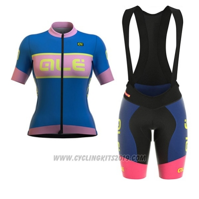2017 Cycling Jersey Women ALE R-ev1 Master Blue Short Sleeve and Bib Short