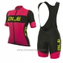 2017 Cycling Jersey Women ALE R-ev1 Rumbls Pink Short Sleeve and Bib Short