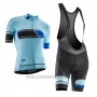 2017 Cycling Jersey Women Orbea Blue Short Sleeve and Bib Short