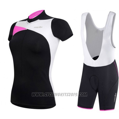 2017 Cycling Jersey Women RH+ Black Short Sleeve and Bib Short