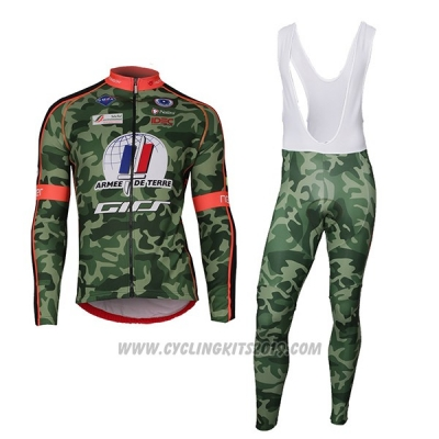 2018 Cycling Jersey Armee De Terre Camouflage Short Sleeve and Bib Short