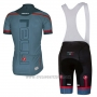 2018 Cycling Jersey Castelli Green Militare Short Sleeve and Bib Short