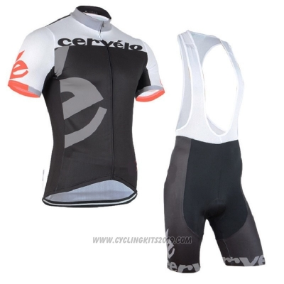 2018 Cycling Jersey Cervelo Gray Black Short Sleeve and Bib Short