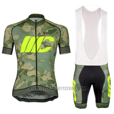 2018 Cycling Jersey Cipollini Prestig Camo Camouflage Green Short Sleeve and Bib Short