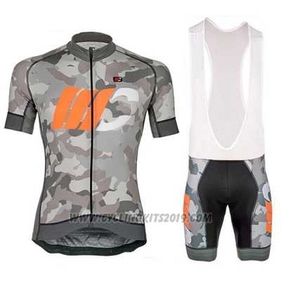 2018 Cycling Jersey Cipollini Prestig Camo Camouflage Orange Short Sleeve and Bib Short