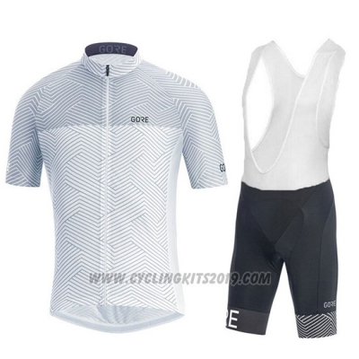 2018 Cycling Jersey Gore White Short Sleeve and Bib Short