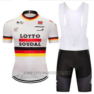 2018 Cycling Jersey Lotto Soudal Campione Germany Short Sleeve and Bib Short