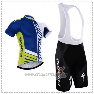 2018 Cycling Jersey Specialized Blue Green White Short Sleeve and Bib Short