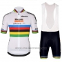 2018 Cycling Jersey UCI Mondo Campione Leader Boels Dolmans White Short Sleeve and Bib Short
