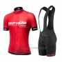 2019 Cycling Jersey Cervelo Red Short Sleeve and Bib Short