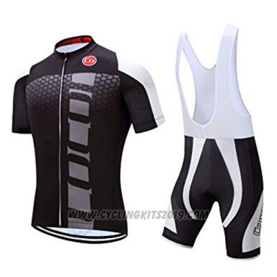 2019 Cycling Jersey Coconut Ropamo Black Gray Short Sleeve and Bib Short