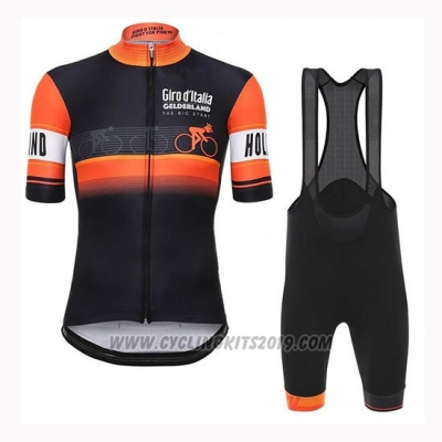 2019 Cycling Jersey Giro D'italy Orange Short Sleeve and Bib Short