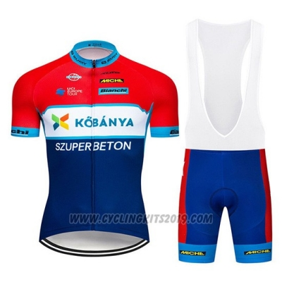 2019 Cycling Jersey Kobanya Red White Blue Short Sleeve and Bib Short