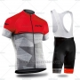 2019 Cycling Jersey Northwave Gray Red Short Sleeve and Bib Short