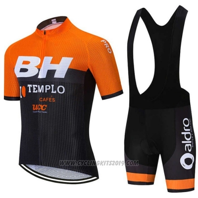 2020 Cycling Jersey BH Templo Orange White Black Short Sleeve and Bib Short