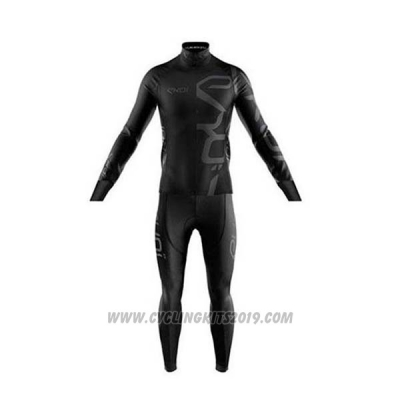 2020 Cycling Jersey EKOI Black Long Sleeve and Bib Tight