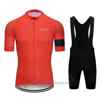 2020 Cycling Jersey Le Col Red Short Sleeve and Bib Short