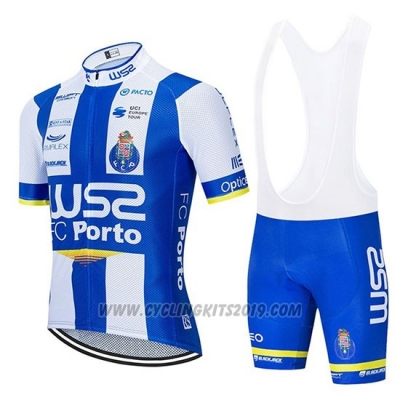 2020 Cycling Jersey W52-FC Porto White Blue Short Sleeve and Bib Short