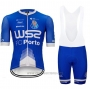 2020 Cycling Jersey W52-fc Porto Blue White Short Sleeve and Bib Short
