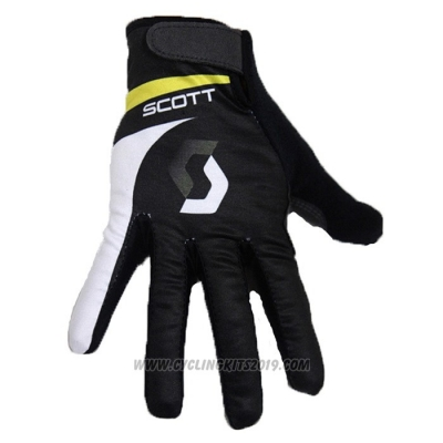 2020 Scott Full Finger Gloves Black White (3)
