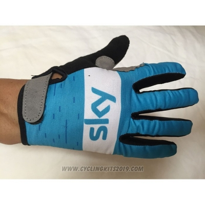 2020 Sky Full Finger Gloves Blue