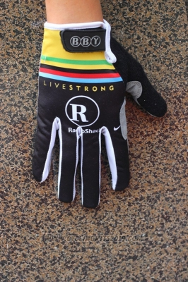 Livestrong Full Finger Gloves Cycling Black and Yellow