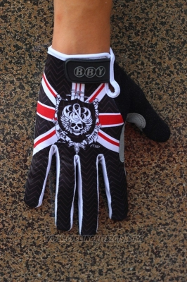Rock Full Finger Gloves Cycling Black Red