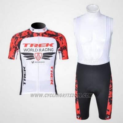 2011 Cycling Jersey Trek Red and White Short Sleeve and Bib Short