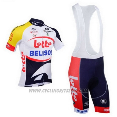 2013 Cycling Jersey Lotto Belisol Purple and White Short Sleeve and Bib Short