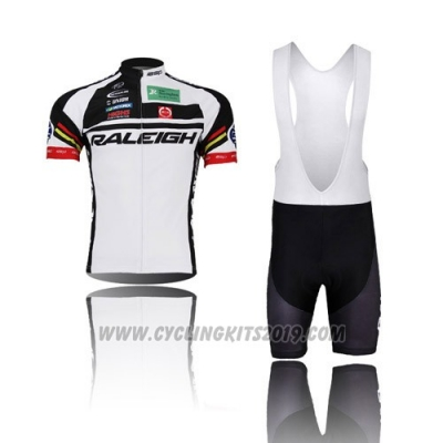 2013 Cycling Jersey Raleigh Black and White Short Sleeve and Bib Short