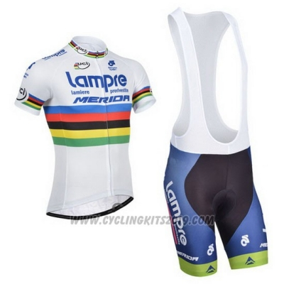 2013 Cycling Jersey UCI Mondo Campione Lider Lampre Merida Short Sleeve and Bib Short